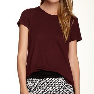 NWT Theory dark ruby Medea O T-shirt size small